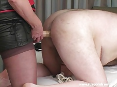 Strapon Slave Training