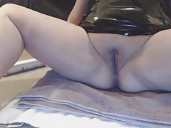 chubby white slut hair spray bottle squirt request