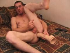 Adam Strokes With a Dildo