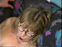 Granny gets two cocks nerd