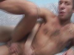 Gay Deep Bareback Anal Fucking with Cum
