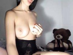 Brunette Big Boobs Webcam Show