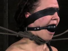 Sensory deprived sub teased by her dom