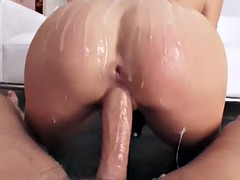 deepthroating glam babe riding hard dick
