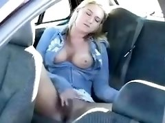 Public masturbation within the vehicle