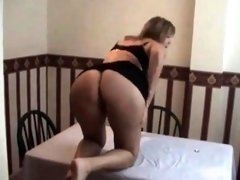 Blonde lady gets hammered