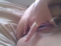Milf Fingers Herself Furiously to Orgasm