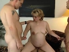 Pregnant milf needs more than one cock