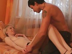 Girl gives stud a cowgirl and wet oral pleasure