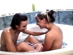 Passionate bath coitus
