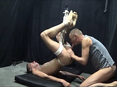 Bondage fuck with poppers