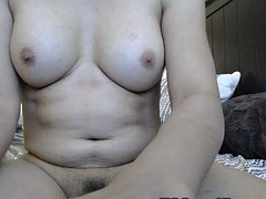 gorgeous busty shemale jerking and spreading her ass