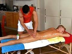 Hunk receives his anal canal explored by rubber