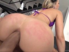 blonde zoey monroe gets assfucked in cowgirl pose