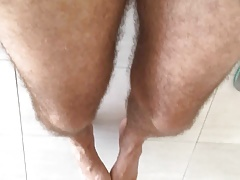 precum and feet