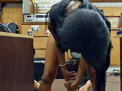 Ebony huge juggs railed by keeper pawn in his pawnshop