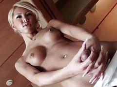 Playful shemale ladyboy shows off her amazing assets for you