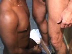 Barebacking gay threeway