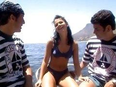 Demia Moor & Monika Bella - Boat Orgy