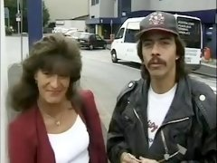 80s German dude picks up precious retro milf to have hardcore fuck outdoors