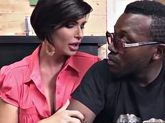 Shay fox comforts a black guy having sex