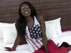 Ebony teen pov rides dick