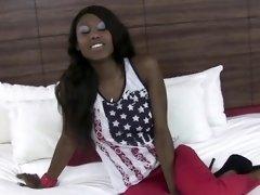 Ebony teen pov rides dick