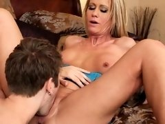 Hot Blonde MILF Sucks And Fucks Simone Sonay 3