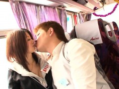 Gorgeous japanese teens sucks off boyfriends