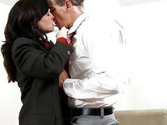 Older babe goes hardcore to get sticky creampie
