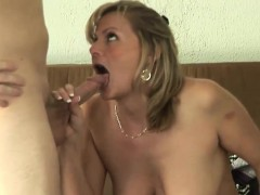 Raunchy MILF has her beaver drilled hard