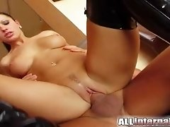 All Internal Double ass fucking and anal creampie