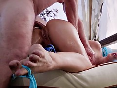 cherie deville on her fours gets butthole drilled