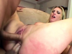 Pussy And Ass Of Blonde Slut Stuffed At Same Time