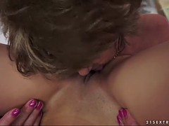 a spectacular granny's silky adventure with her cave being screwed lesbian clip