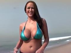 4K Carmella Bing in shiny blue top