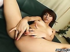 Lace bra babe strips and fingers her hot cunt