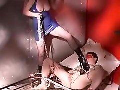 lady in blue rubber