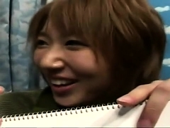 Amateur Japanese babe got her boobs and pussy tongue drilled