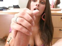 Beauty likes getting her bald twat devoured