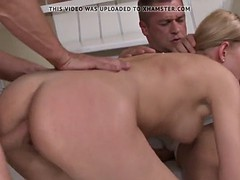 curvy babe assfucked before dp in threeway