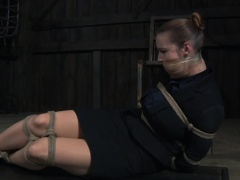 Restrained sub pussytoyed and flogged