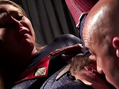 Supergirl Carter Cruise fucked on a desk by the governor