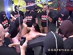 Anal and gangbang sex on sexy babe