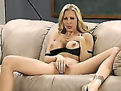 Julia Ann teaches hot girl to masturbate