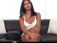 Sexy exotic girl sees if she has what it takes