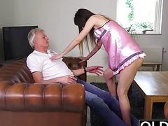 Old and Young Porn  Babysitter pussy fucked old