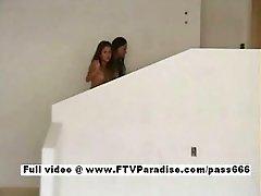 Genuine cute teen lesbians kissing