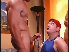 I do Str8 muscle buddies in orgy as they eat and fuck pussy.