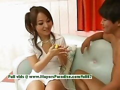 Miina innocent naughty chinese girl gets pussy licked